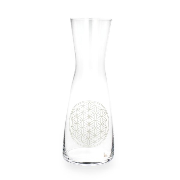 Glaskaraffe 0,5 LB weiß
