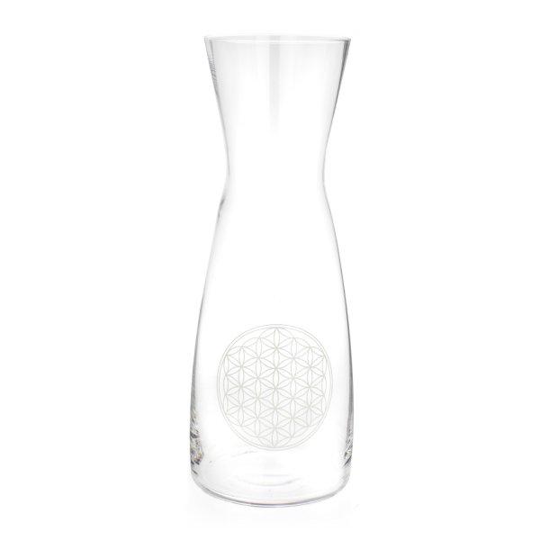 Glaskaraffe 1,0 LB weiß
