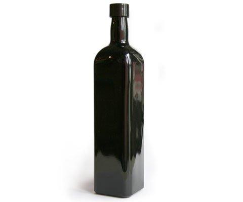 Violettglas Flasche 1,0 l eckig