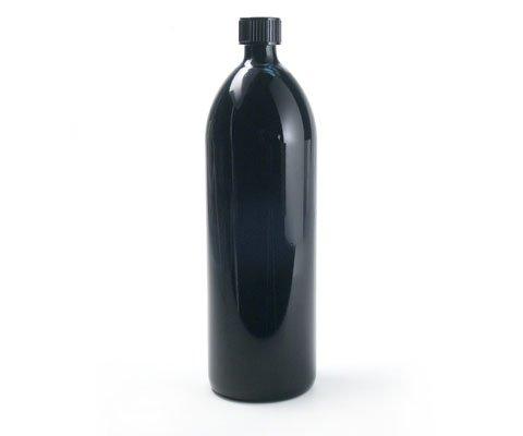 Violettglas Flasche 1,0 l rund