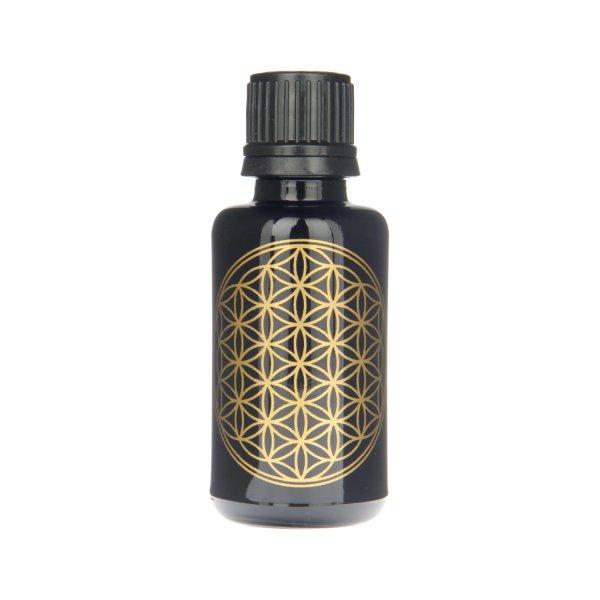 Violettglas Flasche mit Lebensblume 30 ml
