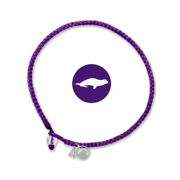 4Ocean Monk Seal Purple geflochten