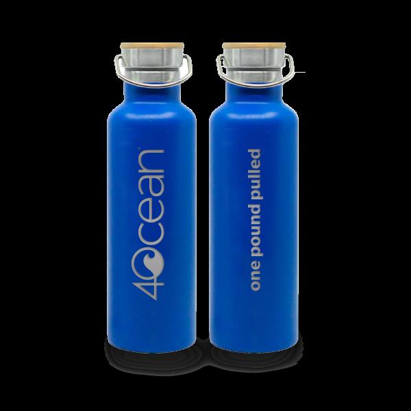 4Ocean Edelstahl isoliert 0,75 ml blau