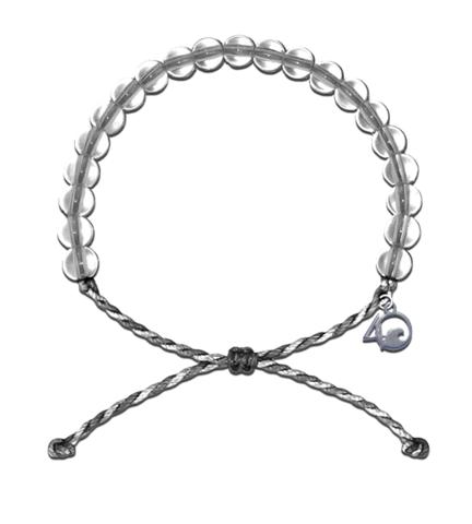 Original 4Ocean Armband grey/white