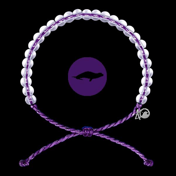 4Ocean Monk Seal Purple 4ocean Armband violett