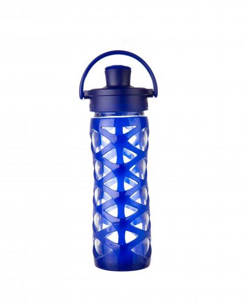 Glastrinkflasche mit Silikonschutz spülmaschinensicher