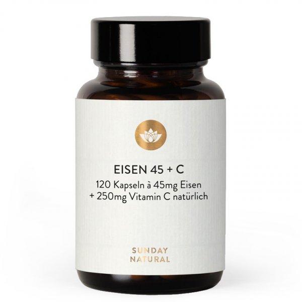 Eisen-Chelat + Vitamin C, 120 Kps.