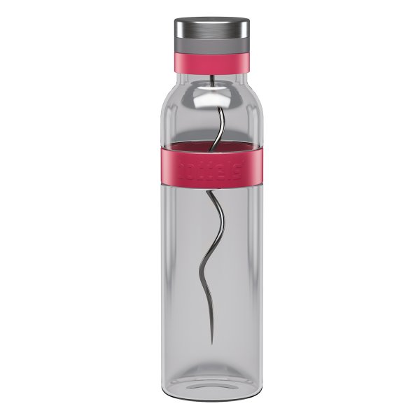 boddels SUND Glaskaraffe zum aromatiesieren deines Wassers 1,1 Ltr. himbeerrot