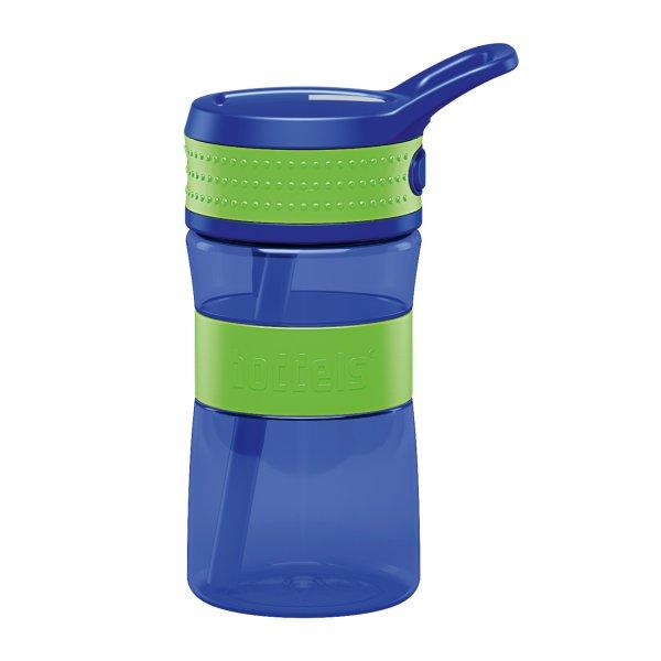 boddels Kindertrinkflasche apfelgrün/blau 400 ml