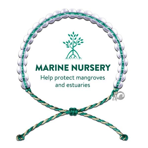 Original 4Ocean Bracelet Mangrove Emerald-Tan